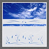 604 / 80cm hoch Sichtschutz Folie Bad Badezimmer Fenster Sichtschutzfolie Fensterfolie Glasdekor Sichtschutzfolie Window blickdicht wasserfest selbstklebende Folie