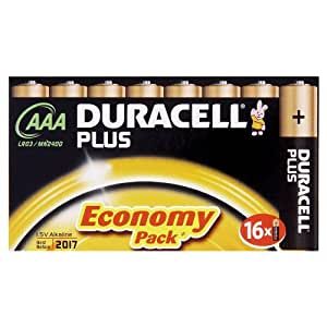 Duracell Plus MN2400 Alkaline AAA Batteries - 16-Pack