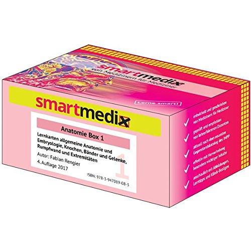 SmartMedix Lernkarten Anatomie Box 1: Allgemeine Anatomie und Embryologie, Knochen, Bänder und Gelenke, Rumpfwand und Extremitäten