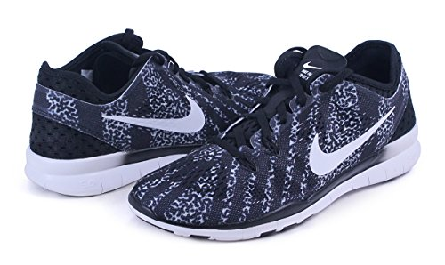 Nike Free 5.0 Tr Fit 5 Leopard Sneaker BLACK/WHITE-WHITE