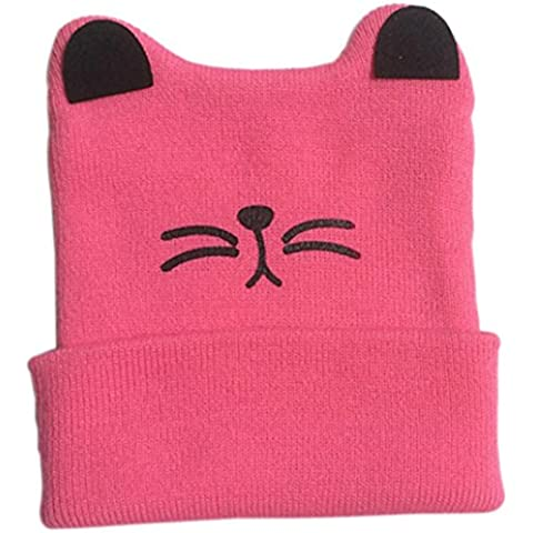 FAMILIZO Kids Knitted Crochet Cat Ear Beanie Winter Warm Hat Cap