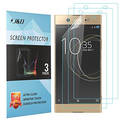 Xperia XA1 Ultra Display Schutzfolie, J&D Premium HD-Clear Schutzfolie für Sony Xperia XA1 Ultra (3er Set)