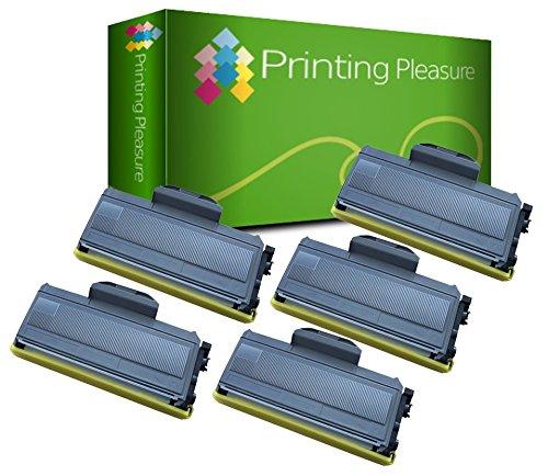 5 Toner Compatibili TN2110 TN2120 Cartuccia Laser per Brother DCP-7030 DCP-7040 DCP-7045N HL-2140 HL-2150 HL-2150N HL-2170 HL-2170W MFC-7320 MFC-7340 MFC-7345DN MFC-7440N MFC-7840W - Nero, Alta Resa