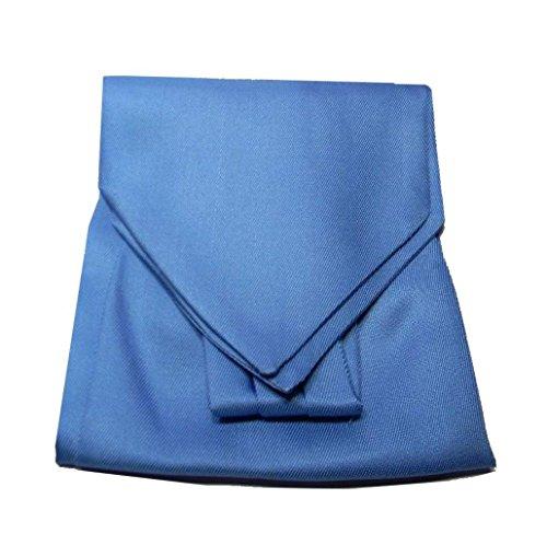 Avantgarde - CASHE COL UOMO TINTA UNITA ASCOT SETA PRODOTTO ITALIANO, colore: Azzurro rigatino