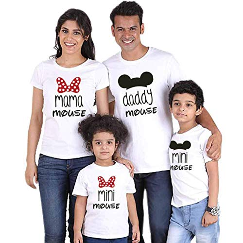Traje de Manga Corta con Estampado Familiar Ropa Estampada Entre Padres e Hijos Daddy Mommy Camisetas de Juego para Niños Conjuntos de Ropa Familiar
