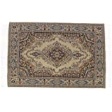 TOOGOO(R) 1:12 casa de munecas miniatura alfombra decorativa Interior modelado 24.2 x 15 cm