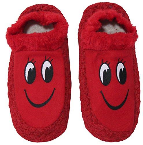 Neska Moda Premium Women's Cotton Red 1 Pair Indoor Slippers