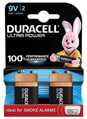 Duracell Ultra Power Batteria Alcaline, Tipo 9V, Confezione da 2