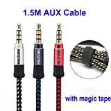 #6: Maruti Suzuki Baleno Original Aux Cable like Car Aux Cable Stereo Audio Cable, 3.5 mm Coiled Cable, Nylon Braided Auxiliary Audio Cable, Best Quality Lower Price Male to Male 3.5mm Aux Cable- Multicolour