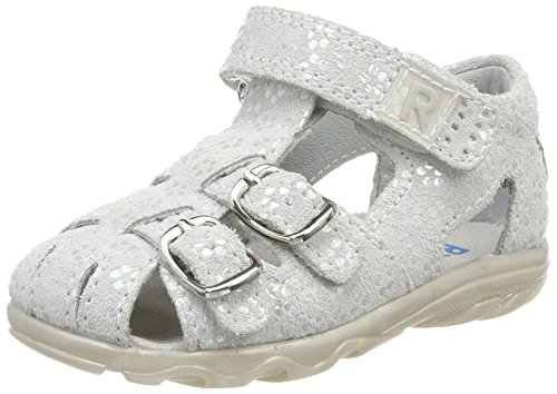 Richter Kinderschuhe Mädchen Terrino Geschlossene Sandalen, Weiß (Panna/Silver), 19 EU