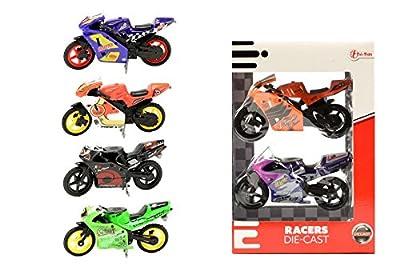 toi-toys–Die-Cast Moto in Box Fenster 2-teilig Fahrzeuge, 21300z, Mehrfarbig von Toi-Toys