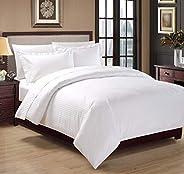 Hotel Stripe 5Pcs Comforter Set, King Size, White