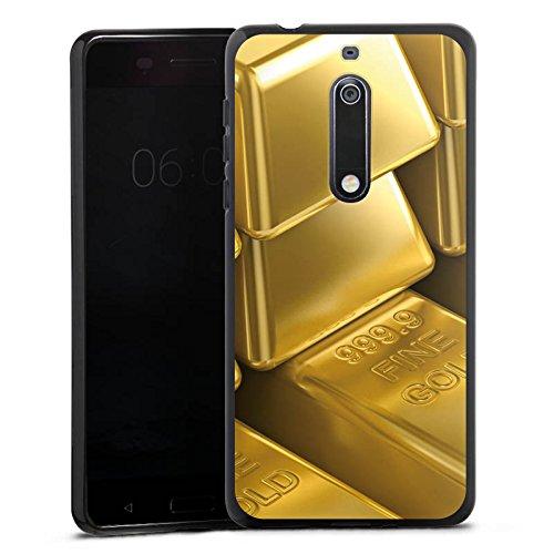 DeinDesign Nokia 5 Silikon Hülle Case Schutzhülle Goldbarren Gold Barren