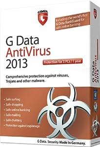G Data AntiVirus 2013 3 user 1 year license [import anglais]