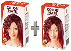 Color Mate Hair Color Cream - Copper Red 130 ML (Pack of 2)
