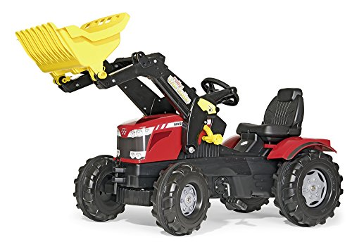 *Rolly Toys 611133 – Tretbulldog Kindertraktor Massey Ferguson 8650 mit Lader*