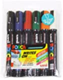 uni-ball Posca PC-5M Medium Bullet Tip Markers - Assorted Colours, Pack of 6