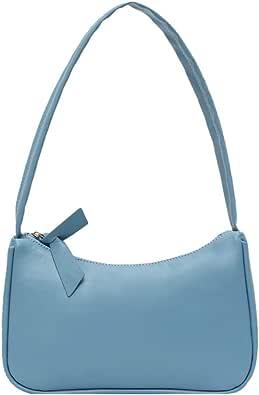 HAOXIU Retro Unterarmtasche für Damen, Stilvoll PU-Leder Handtasche mit Schleife