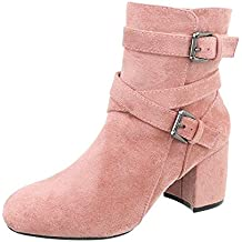Zapatos para mujer Botas Mini tacón Botines clásicos ...