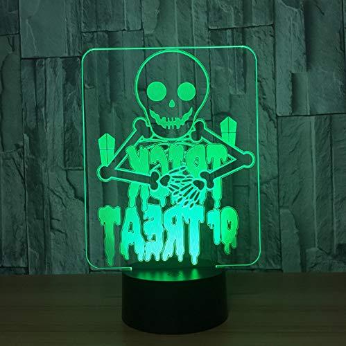 Illusion Lampe Nachtlicht 3D optische Täuschung Lampe Ghosts 7 Farbe Visuelle Leder Für Kinder Touch Usb Tisch Baby Sleeping Nightlight Ghost Leder