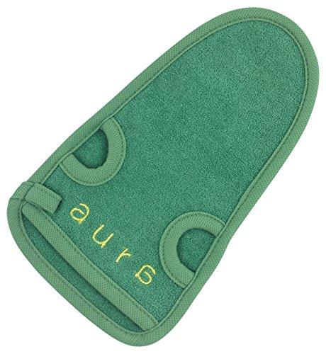 Premium Peelinghandschuh aus Bambusfaser / für strahlende Haut / beugt Unreinheiten vor / auch für Hamam und Massage geeignet
