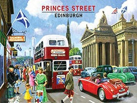 Princes Street, Edinbourg, Écosse. Vintage Ancien Années 50 Années 60 pour la maison, cuisine, voyage, garage, pub, bar or restaurant Métal/Panneau Mural Métalique - 15 x 20 cm