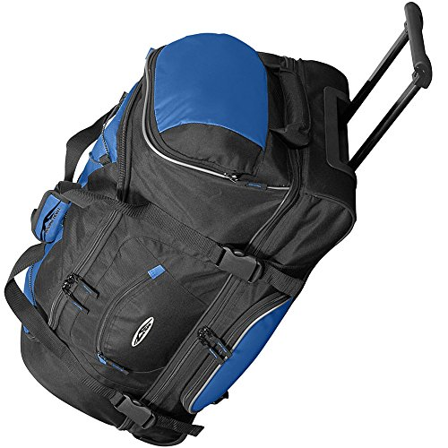 JEMIDI Reisetasche 106L XXL mit Rollen Trolley Jumbo Tasche Reise Koffer Sporttasche (Blau) Blau