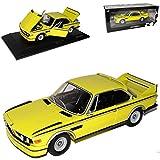 alles-meine.de GmbH BMW E9 3.0 CSL Coupe Gelb 1968-1975 1/18 Minichamps Modell Auto mit individiuellem Wunschkennzeichen
