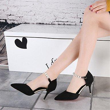 Vestito da modo delle donne Tacchi D'Orsay & a due pezzi scarpe da sposa Party & Sera Scarpe tacco a spillo con fibbia 4 colori Red