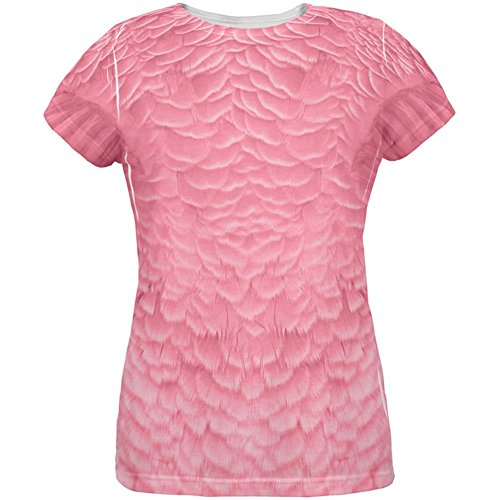 Halloween Pink Flamingo Kostüm aller Damen T Shirt Multi (Flamingo Halloween Kostüm)