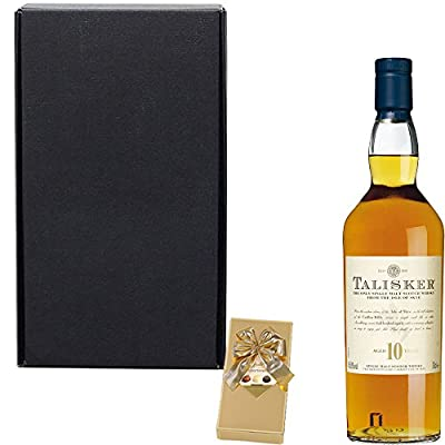 Talisker 10 Year Old Single Malt Scotch Whisky Gift Set With Handcrafted Happy Birthday Gifts2Drink Tag