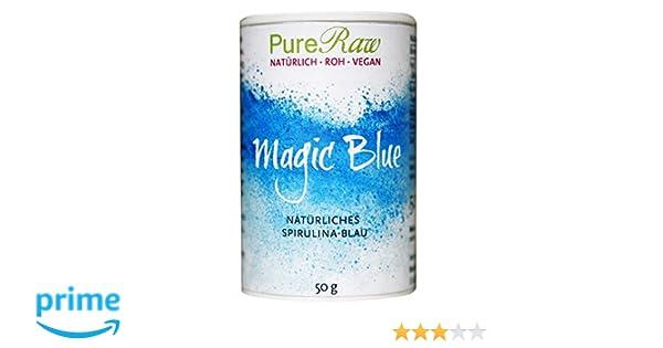 Magic Blue (natürliches Spirulina-Blau), 50g (Roh) (1): Amazon.de ...