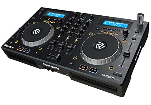 Numark Mixdeck Express Komplettes DJ Controller System mit CD/MP3/USB Decks, Mixer, Computer Audio und MIDI interface