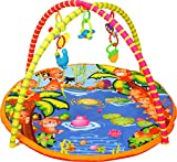 Playhood Cute Jungle Print Baby Activity Gym with Hanging Rattles and Teether