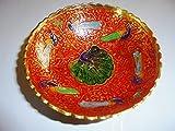 KOBWA Romantico portacandela Rosa esagono Fiore Ciotola portacandela in Mosaico di Vetro per la Decorazione Domestica Festa di Nozze Regalo