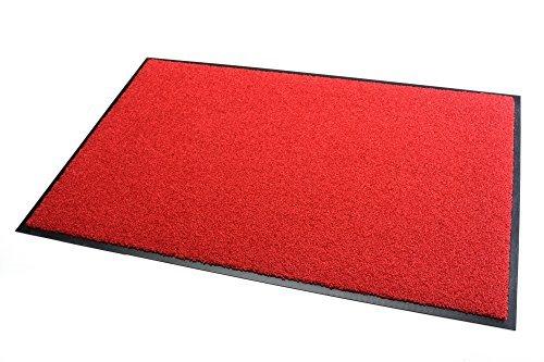 Outdoor-rot-teppich (Premium Fußmatte Schmutzfangmatte SANSIBAR rot 90x120cm ✓ Extrem strapazierfähig ✓ Außen & Innen ✓ Waschbar ✓ PVC-frei – Sauberlaufmatte Haustür Schmutzmatte Türmatte Design Türvorleger – Eingangsmatte Schmutzfangteppich Schmutzfänger Außenbereich (Sansibar 90x120 cm, rot))