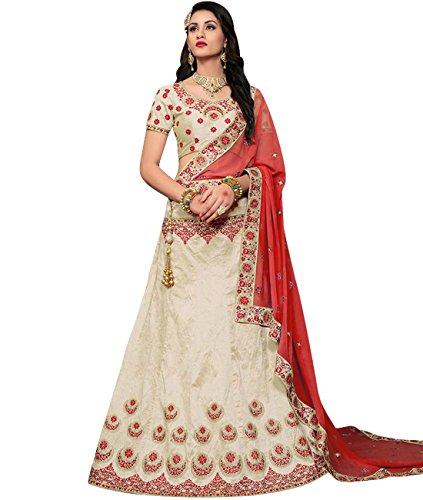 Indian Ethnicwear Bollywood Pakistani Wedding White Coloured Lehenga Un-stitched