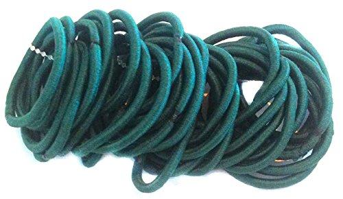 Allsorts® 36 Bottle Green Endless Elastics Hair Bobbles Elastic Bands Hair Accessory