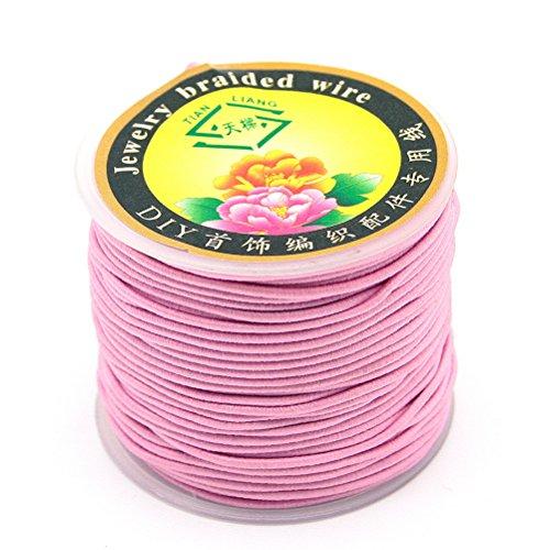Magnifique Perle 40 m de cordes tress?es Perles-Rouleau Fil Cordon pour Fabrication de Bracelets ? faire soi-m?me Rose