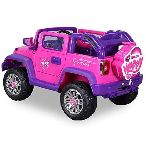 RC Auto kaufen Kinderauto Bild 2: Kinder Elektroauto Jeep Pink Girly JJ235 Elektro Kinderauto Kinderfahrzeug*