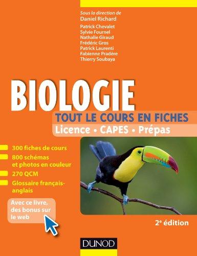 Biologie -Tout le cours en fiches - 2e éd. : 300 fiches de cours, 300 QCM et bonus web