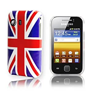 AIO Union Jack Back Case Cover For Samsung Galaxy Y S5360 + Screen Protector