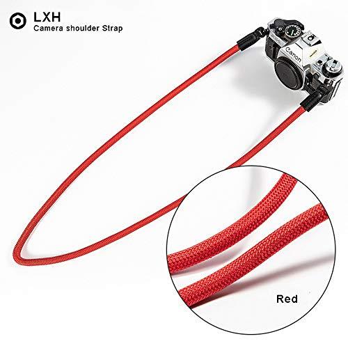 LXH cinturino per fotocamera nylon fatto mano universale tracolla fotocamera tracolla per Leica Canon Nikon Fuji Olympus Lumix Sony