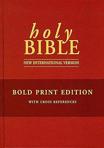 NIV Bold Print Bible with Cross References
