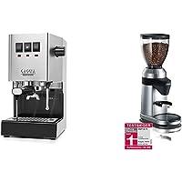 Gaggia 886948011010 Espresso Siebträger, Edelstahl & Graef Kaffeemühle CM 800