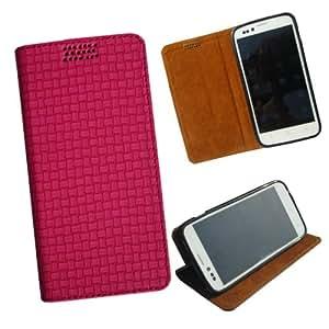 i-KitPit - New Design PU Leather Flip Case For Motorola Moto X (PINK)
