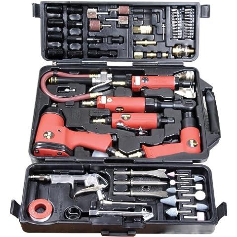 Am-Tech - Maletín de herramientas neumáticas (77 piezas)