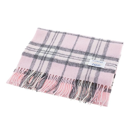edinburgh-100-lambswool-scottish-tartan-multicolour-scarf-thomson-pale-pink-one-size