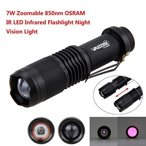 Infrarot-Taschenlampe für Jagd, LED-Taschenlampe, OSRAM IR 850 Infrarot-Licht, Nachtsicht-Taschenlampe, zur Verwendung mit Nachtsicht-Jagd-Geräten, VASTFIRE