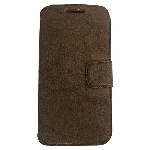 AryaMobi© Flip Cover, Synthetic Leather Flip Cover Universal Diary Case Cover For Karbonn Quattro L50 - Brown - Premium Cover